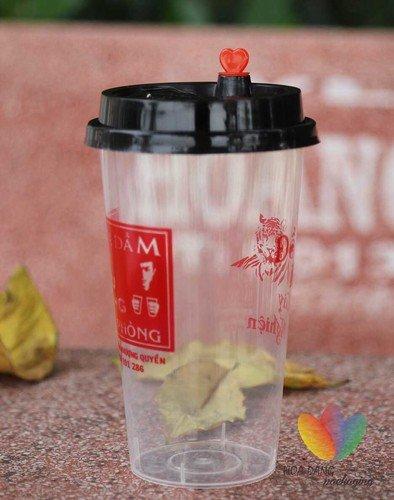 in logo lên ly nhựa